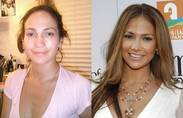 Unrecognizable celebrity pictures before and after photoshop